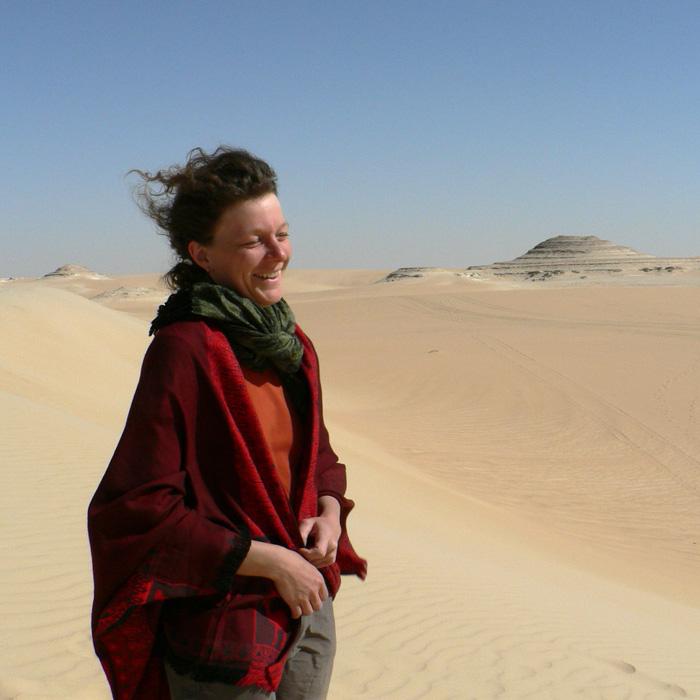 Katharina in der Weite der Wüste