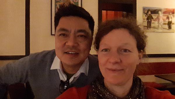 Raj Thapa zu Besuch in Berlin