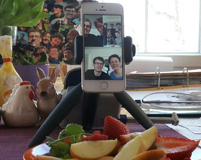 Osterfrühstück mit Video